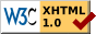 Valid XHTML 1.0 Strict